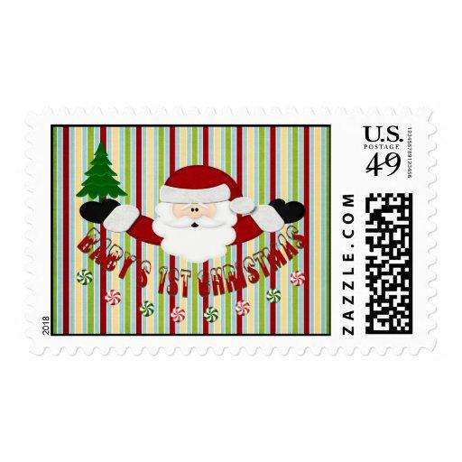 Babys 1st Christmas Postage Stamp