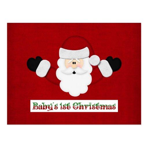 Babys 1st Christmas Postcard