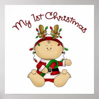 Babys 1st Christmas Print