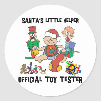Baby's 1st Christmas Santa's Little Helper Classic Round Sticker