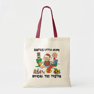 Baby's 1st Christmas Santa's Little Helper Gift Tote Bag