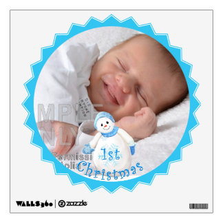 Baby's 1st Christmas Snowman Custom Wall Decals