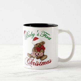 Babys 1st Christmas Two-Tone Coffee Mug