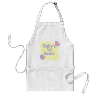 babys 1st easter adult apron