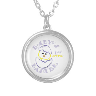 Babys 1st Easter Round Pendant Necklace