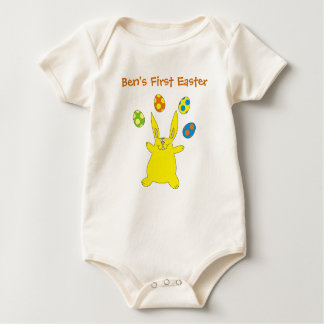 Babys 1st Easter Yellow Bunny Personalized Creeper