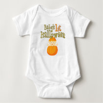Babys 1st Halloween Little Pumkin Baby Bodysuit