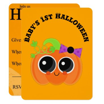 Halloween Themed Babys 1st Halloween Little Pumpkin Card