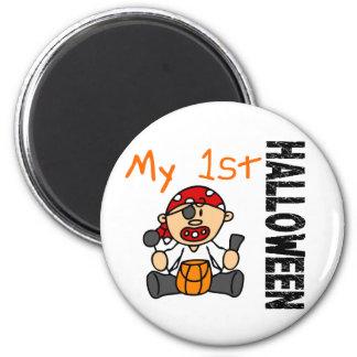 Baby's 1st Halloween Pirate BOY 2 Inch Round Magnet