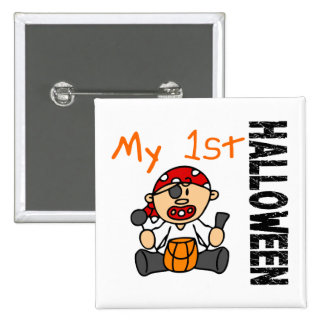 Baby's 1st Halloween Pirate BOY 2 Inch Square Button