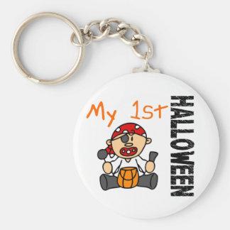 Baby's 1st Halloween Pirate BOY Basic Round Button Keychain