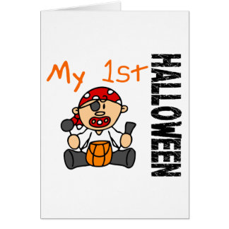 Baby's 1st Halloween Pirate BOY Greeting Card