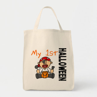Baby's 1st Halloween Pirate BOY Grocery Tote Bag