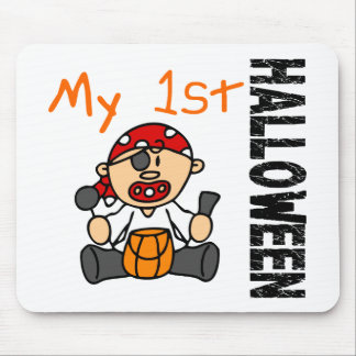 Baby's 1st Halloween Pirate BOY Mousepads