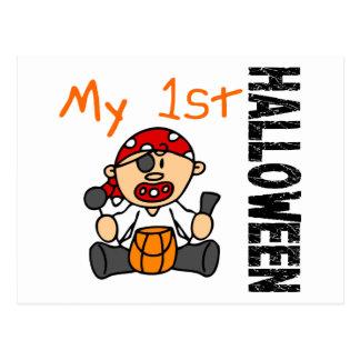 Baby's 1st Halloween Pirate BOY Postcard