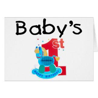 Baby's 1st Happy Birthday Card