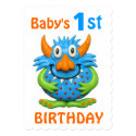 Baby's 1st Monster Birthday Party 5x7 Paper Invitation Card