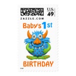 Baby's 1st Monster Birthday Party Stamps
