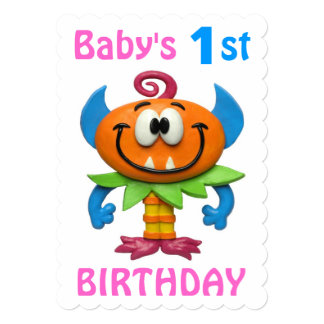 Baby's 1st Monster Party Card