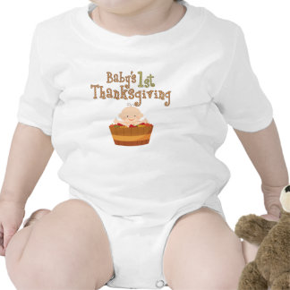 Baby's 1st Thanksgiving Apples Bodysuits