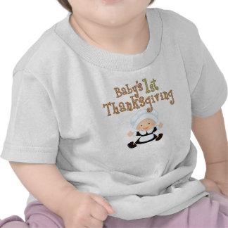 Baby's 1st Thanksgiving Baby Girl Pilgrim Tee Shirts