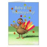 Baby's 1st Thanksgiving - Baby Turkey Card
