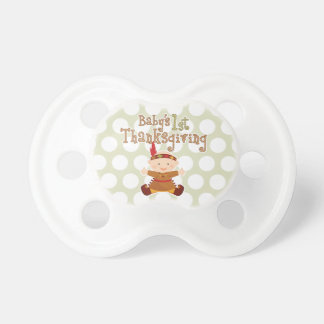 Baby's 1st Thanksgiving Cute Baby Indian Pacifier