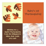 Baby's 1st Thanksgiving Flat Photo Greeting Card Personalized Invitation