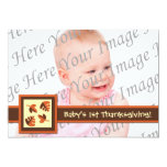 Baby's 1st Thanksgiving Flat Photo Greeting Card Invitations