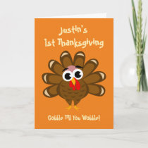 Baby's 1st Thanksgiving grandson or granddaughter Holiday Card