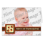 Baby's 1st Thanksgiving Photo Folded Greeting Card