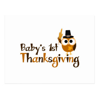 Baby's 1st Thanksgiving Postcard