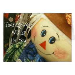 BABY'S ***1st THANKSGIVING*** SPECIAL CARD