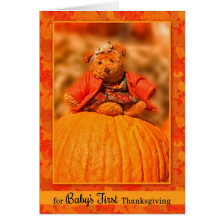 Baby's 1st Thanksgiving Sweet Teddy Bear Card