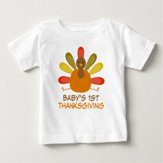Babys 1st Thanksgiving Turkey Holiday Tee