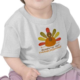 Babys 1st Thanksgiving Turkey Holiday Tee
