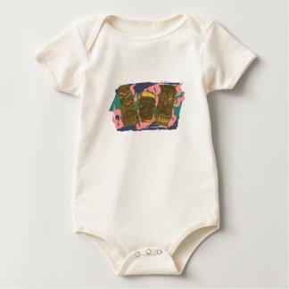Baby's 1st Tipsy Hawaiian Tiki Totem Low Brow - Baby Bodysuit