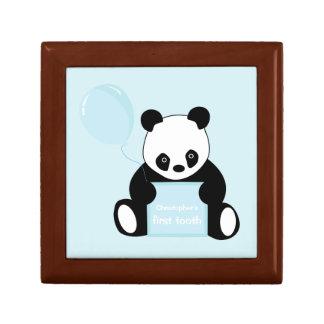 Babys 1st tooth panda bear custom keepsake box