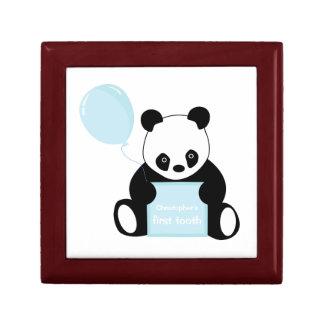Babys 1st tooth panda bear customizabl trinket box