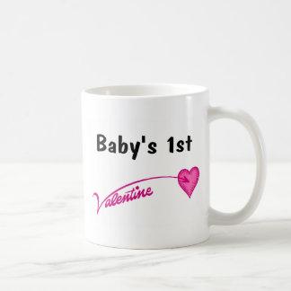 Baby's 1st Valentine Classic White Coffee Mug