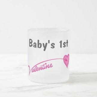 Baby's 1st Valentine 10 Oz Frosted Glass Coffee Mug