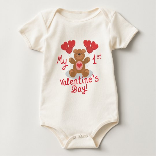 Baby's 1st Valentine's Day Baby Bodysuit