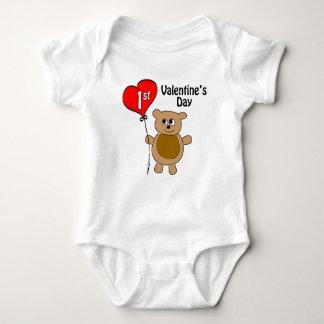 Babys 1st Valentine's Day Bear Theme Infant Creeper