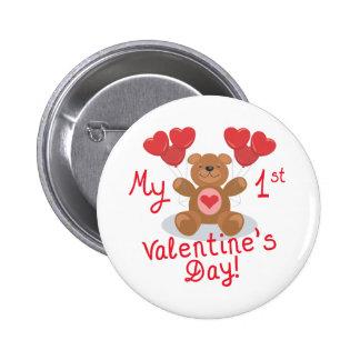 Baby's 1st Valentine's Day Button