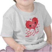 Baby's 1st Valentine's Day Kawaii Heart T-Shirt shirt