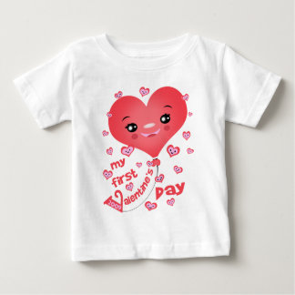Baby's 1st Valentine's Day Kawaii Heart T-Shirt