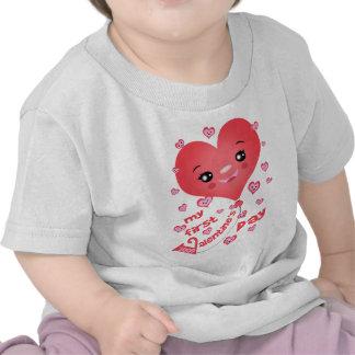 Baby's 1st Valentine's Day Kawaii Heart T-Shirt