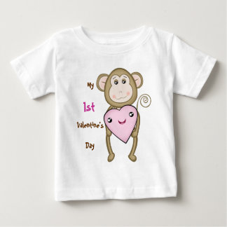 Baby's 1st Valentine's Day Monkey T-Shirt