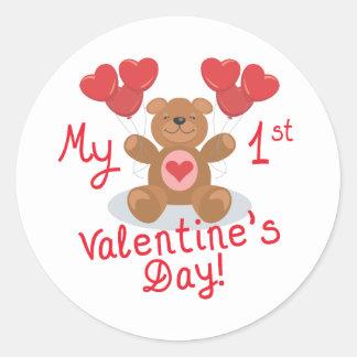Baby's 1st Valentine's Day Stickers