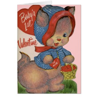 Baby's 1st Valentine's Greeting Card